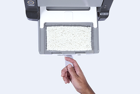 Easily pickup sushi rice sheet with specialized plate for Rice Sheet Maker ASM865A