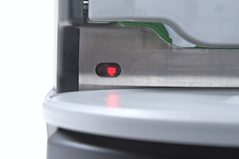 AUTEC sushi robots equipped with sensors throughout all sushi machines